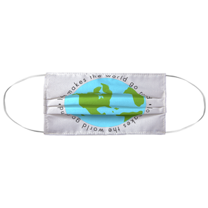 Love Makes the World Go Round Face Mask - gobelight shop