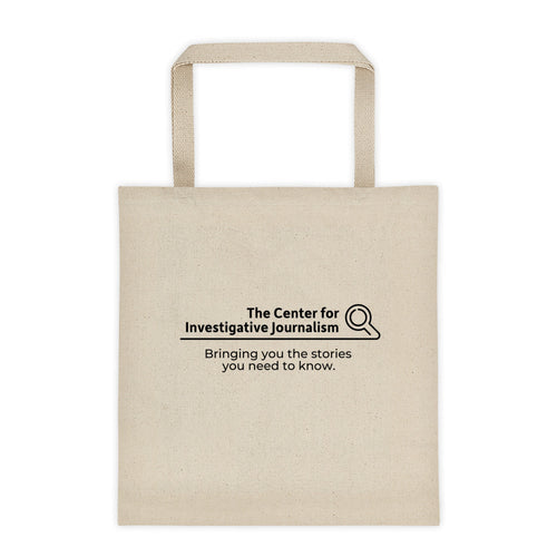 The Center for Inquisitive Journalism Tote bag