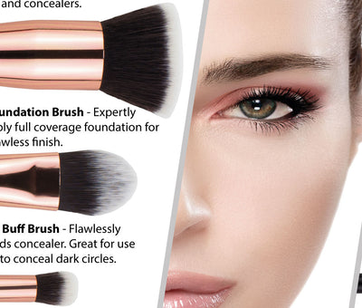 What are the best type of makeup brushes to use?