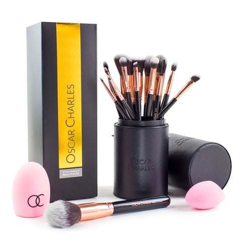 oscar charles makeup brush set gift set for ladies birthday beauty set
