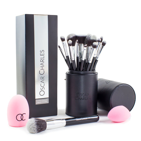 Oscar Charles Professional 15 Piece Makeup brush Set