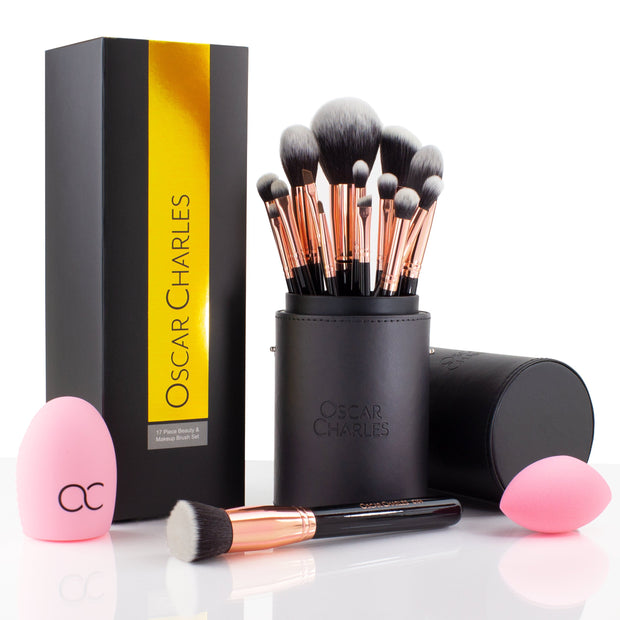 oscar charles Pro Luxe makeup brushes set