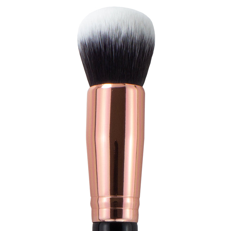 Oscar Charles 118 Luxe Silk Finish Foundation Makeup Brush Rose Gold/Back