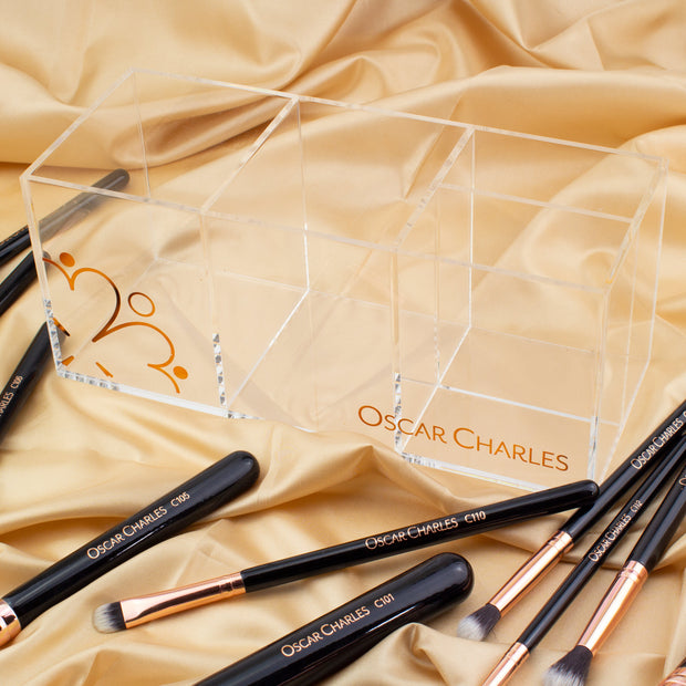 Oscar Charles Makeup Storage Holder Clear / Rose Gold