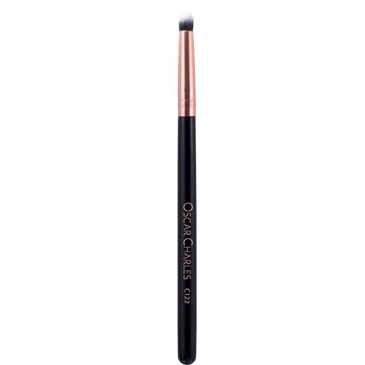 Oscar Charles 122 Luxe Eye Blender Makeup Brush Rose Gold/Black