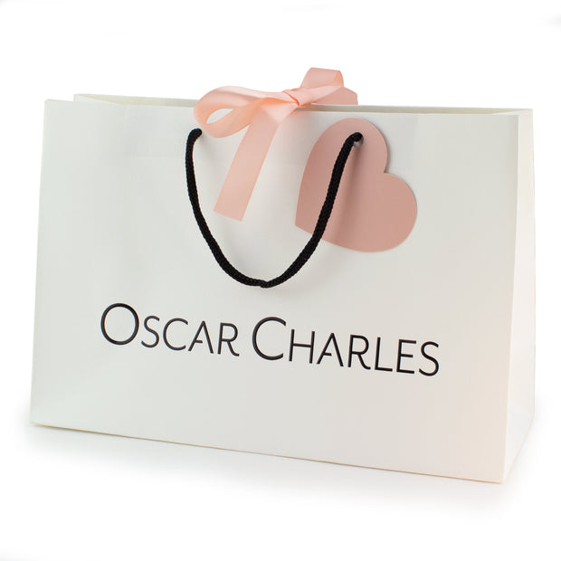 Oscar Charles Medium Gift Bag Colour Cream with Black Logo