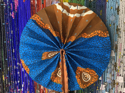 Blue and orange fan