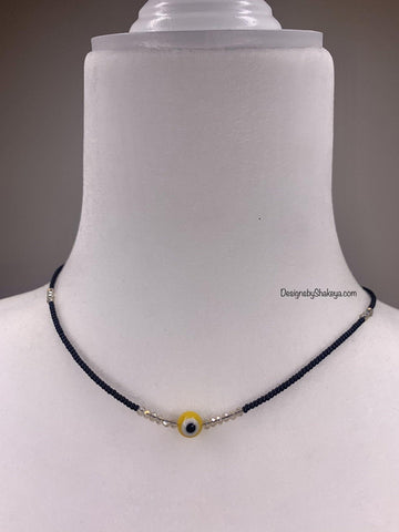Yellow Evil Eye Necklace