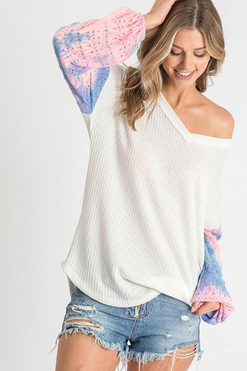 ABBY CROCHET TIE-DYE SLEEVES