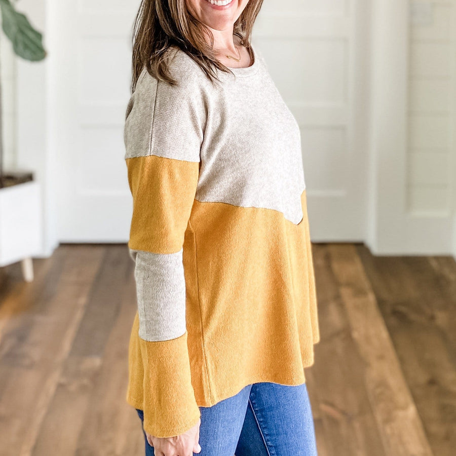 KAYLEN COLOR BLOCK TUNIC