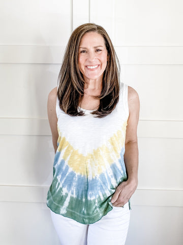 AVERY TIE-DYE SLEEVELESS TOP
