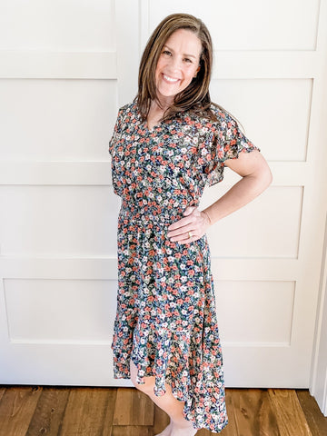 SWEET HI-LOW FLORAL DRESS