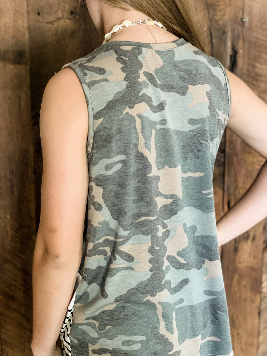 TAY CAMO & STRIPES COLOR BLOCK