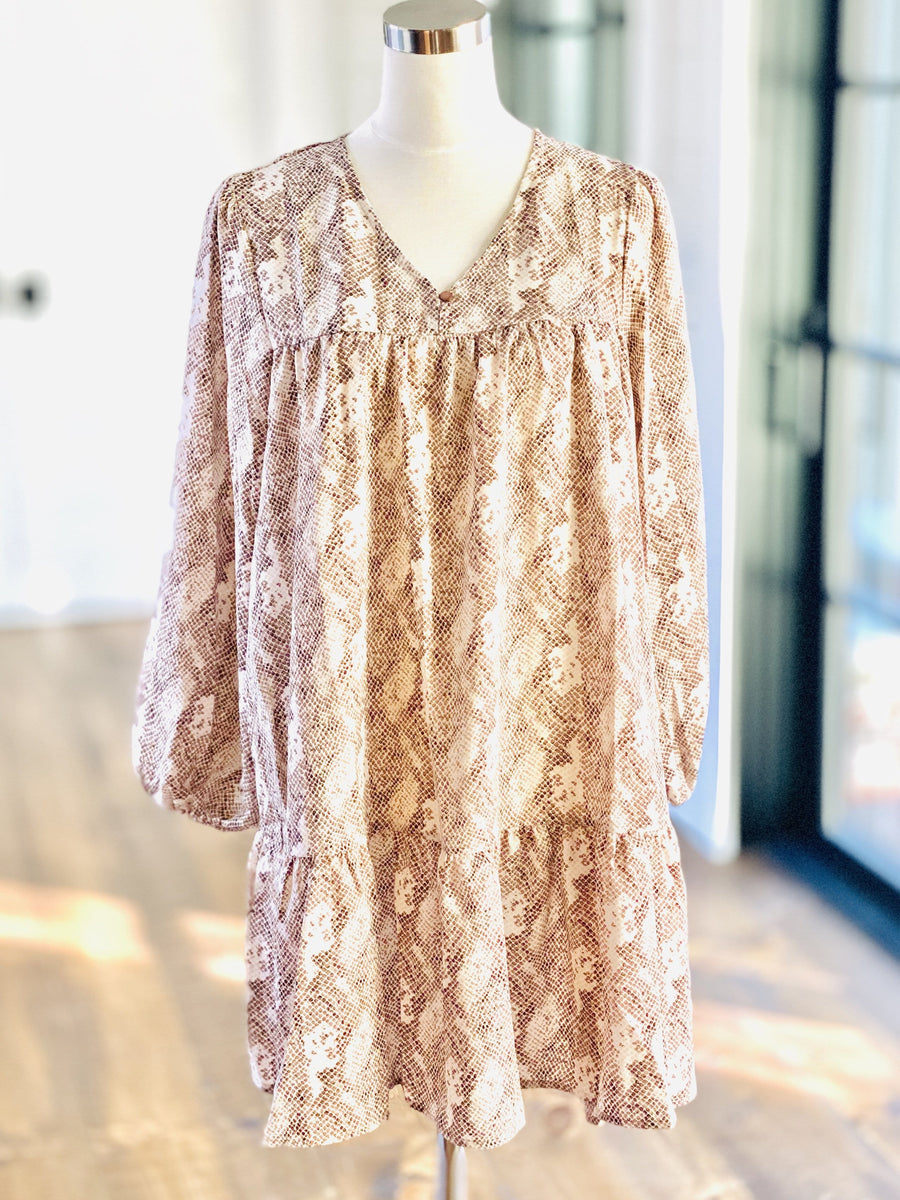 KATE SNAKESKIN DRESS