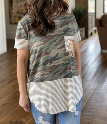 CAMRYN CAMO TOP (CURVE COLLECTION)