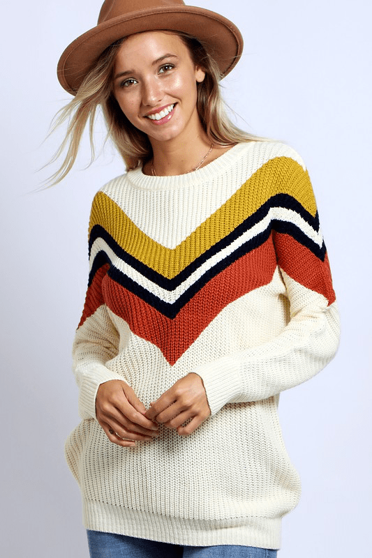 LENA CHEVRON SWEATER