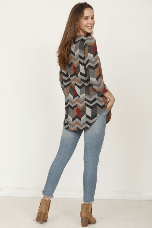 MACI CHEVRON TUNIC