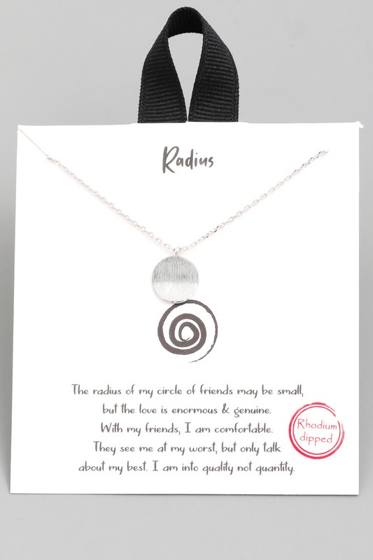 RADIUS DISK PENDANT NECKLACE