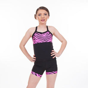 2 Piece Long Sets NEON PINK ZEBRA