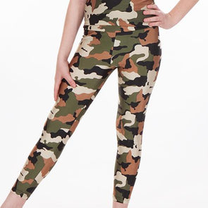 Print High Waist Leggings CAMO
