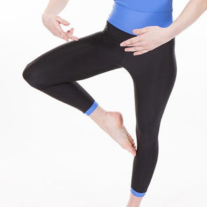 High Waist Leggings With Trim MARINE BLUE