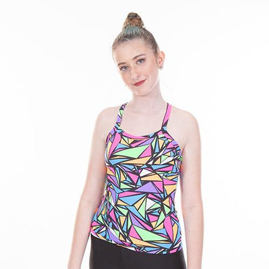 32125a4b3c58b3 Long Top Print ABSTRACT PRINT – Lexi Luu Dancewear
