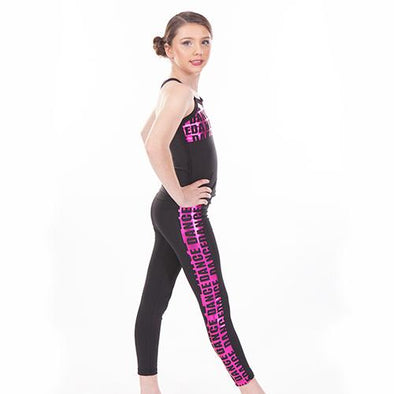 2 Piece Print Long Top With Leggings FOIL PINK DANCE