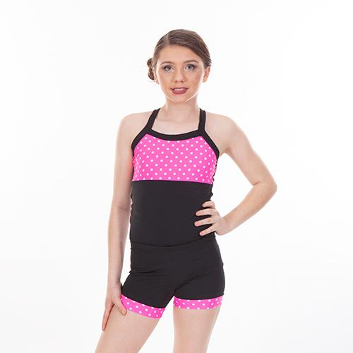 5ff18d6f3c0e96 2 Piece Long Sets NEON PINK POLKA DOT – Lexi Luu Dancewear