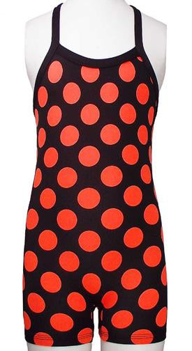 Bootitard ORANGE POLKA DOT