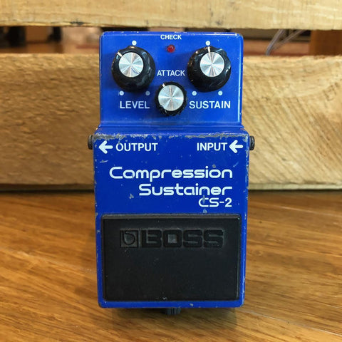 Vintage Boss CS-2 Compression Sustainer SEPT 1985