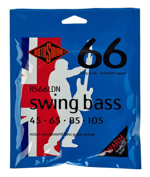 Rotosound Swing Nickel Bass Guitar Strings Long Scale (45-105)