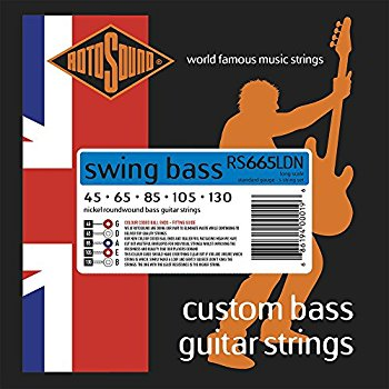 Rotosound Swing Stainless Steel Custom 5 String Bass Strings Extra Long Scale (45-130)