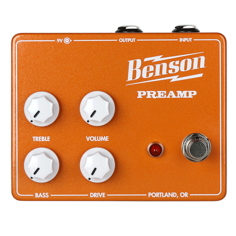 Benson Amps PREAMP in limited edition Orange!