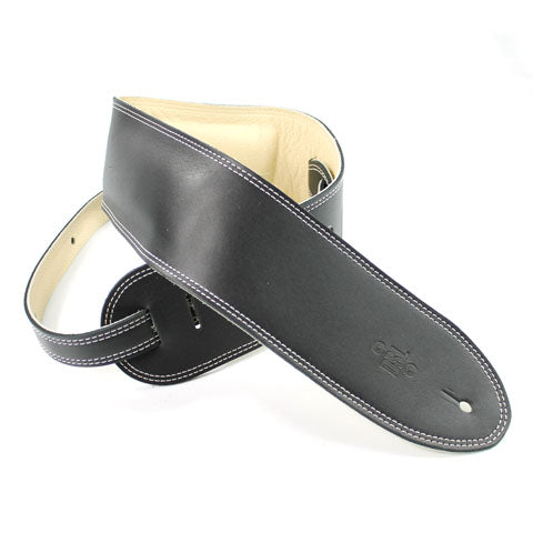 "DSL Guitar Strap 3.5"" Padded Garment Black/Beige"