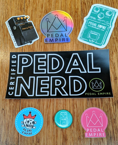 Extra large Pedal Empire sticker pack!