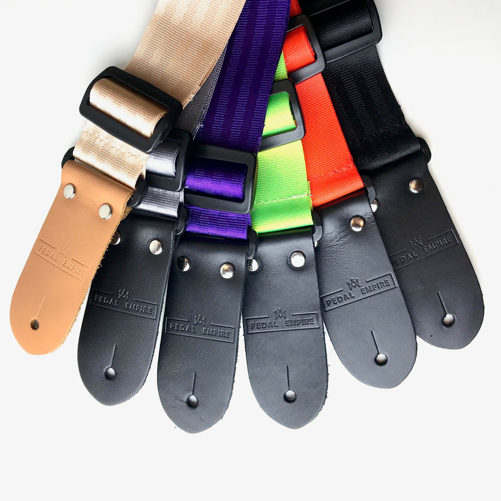 DSL Seat Belt Guitar Strap 'Pedal Empire' Branded - Assorted Colours