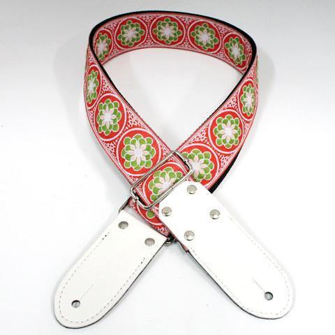 DSL JAC20 Guitar Strap - Green Flower