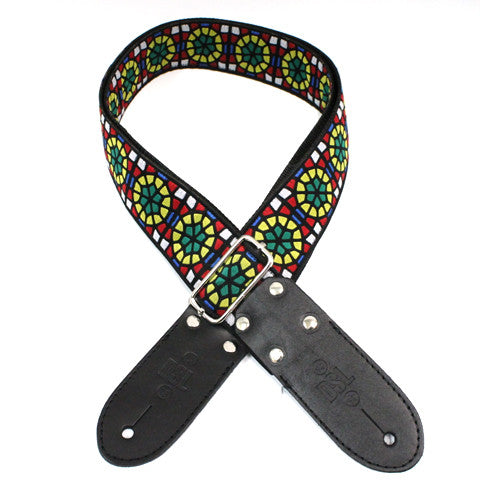 DSL JAC20 Guitar Strap - Stained Glass