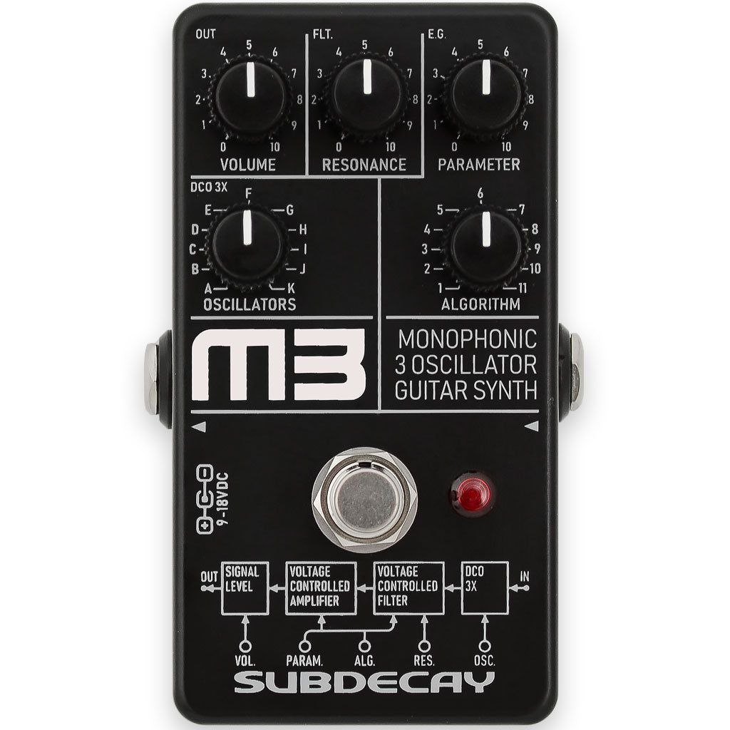 Subdecay M3 Monophonic 3 Oscillator Guitar Synth