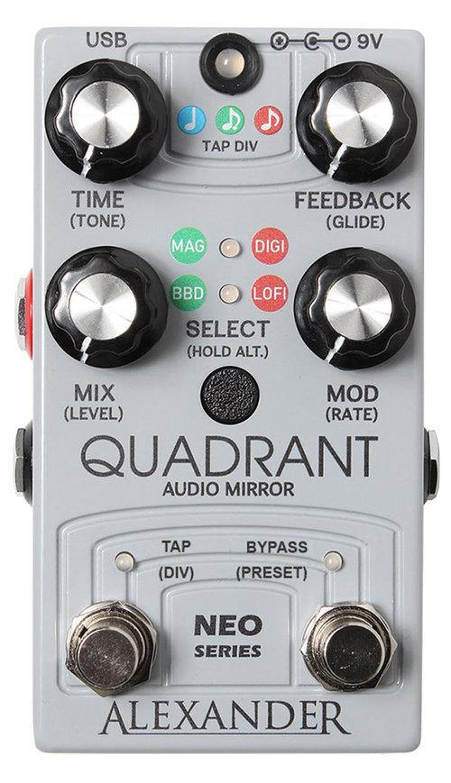 Alexander Pedals Quadrant Audio Mirror Delay Neo