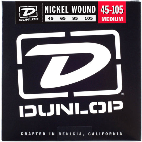 Dunlop Nickel-Wound Bass Guitar Strings (45-105)