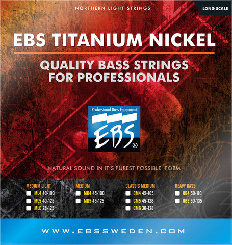 EBS Bass Guitar Titanium Nickel Strings