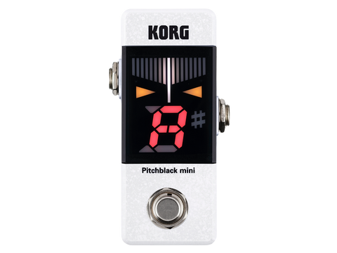 KORG Pitch Black Mini Tuner - White