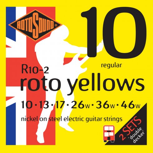 Rotosound Roto Yellows Electric Guitar Strings (2 Pack)