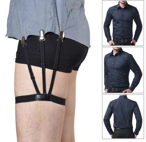 Men's Shirt Stay - Adjustable Shirt Holders