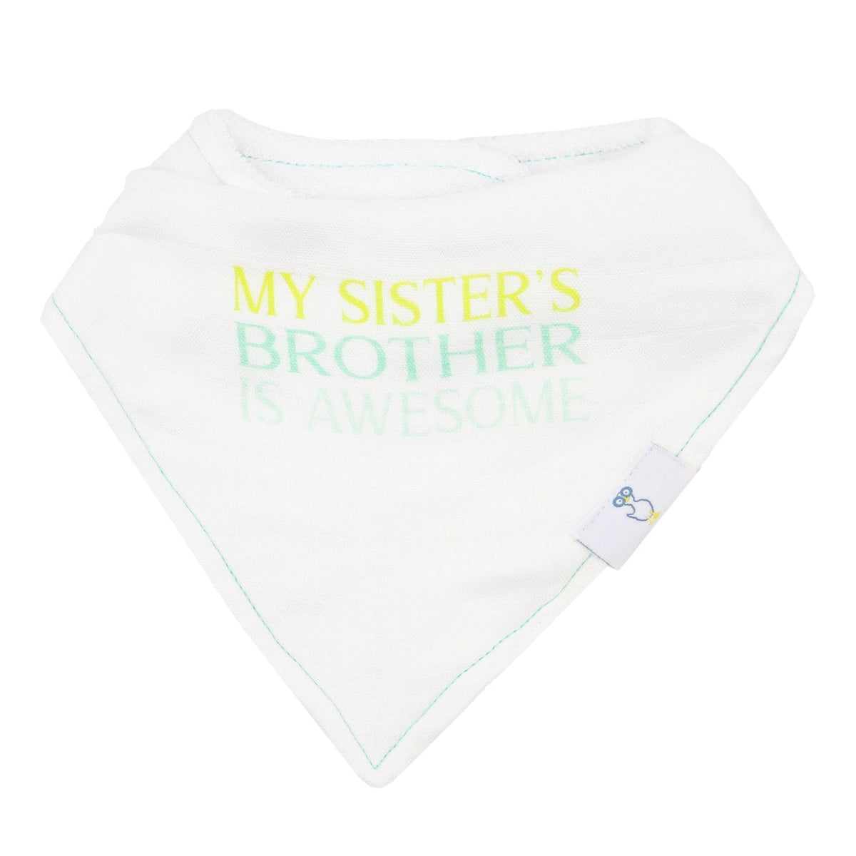 2 PK Muslin & Terry Cloth Bib Set Brother/Arrows - Goosewaddle