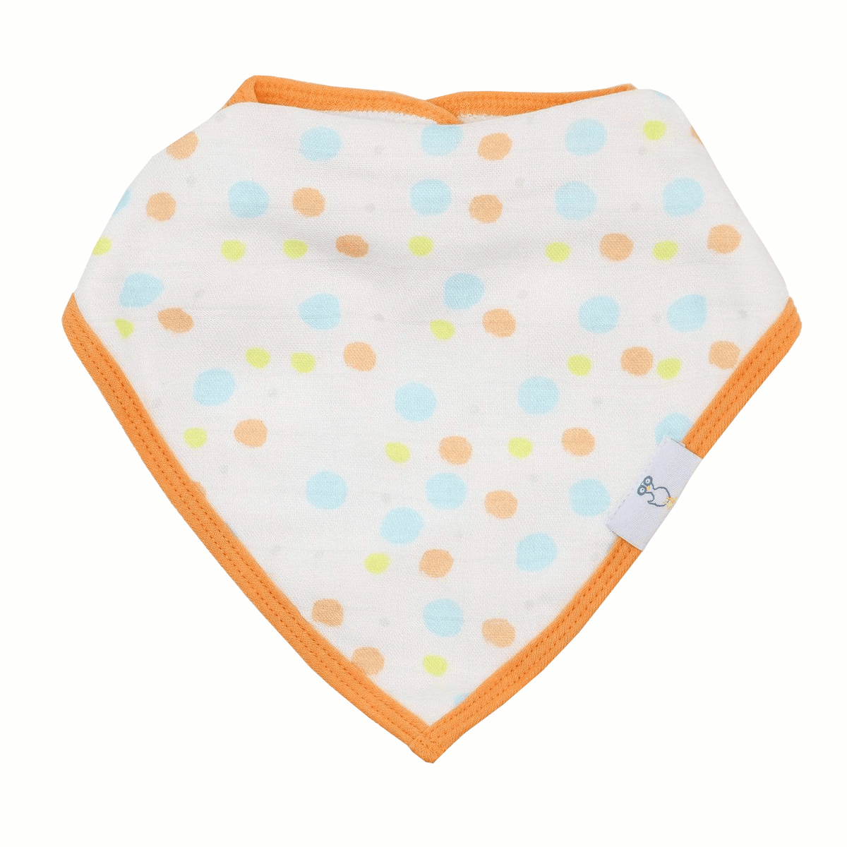 2 PK Muslin & Terry Cloth Bib Set Circles/Trains - GooseWaddle