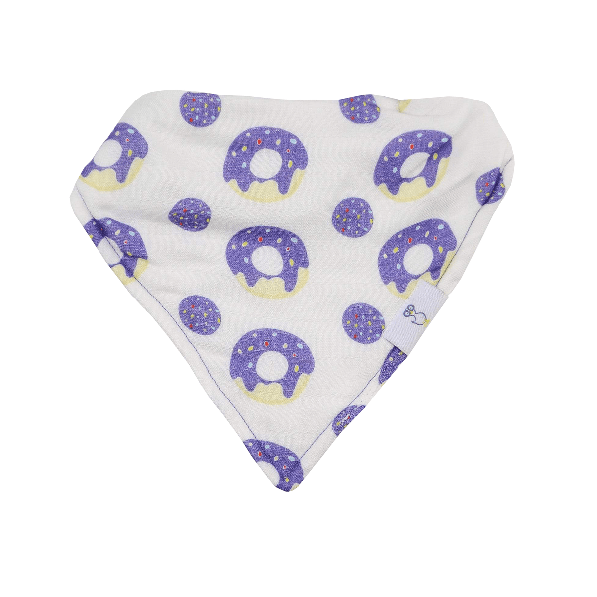2 PK Muslin & Terry Cloth Bib Set Donut - Goosewaddle
