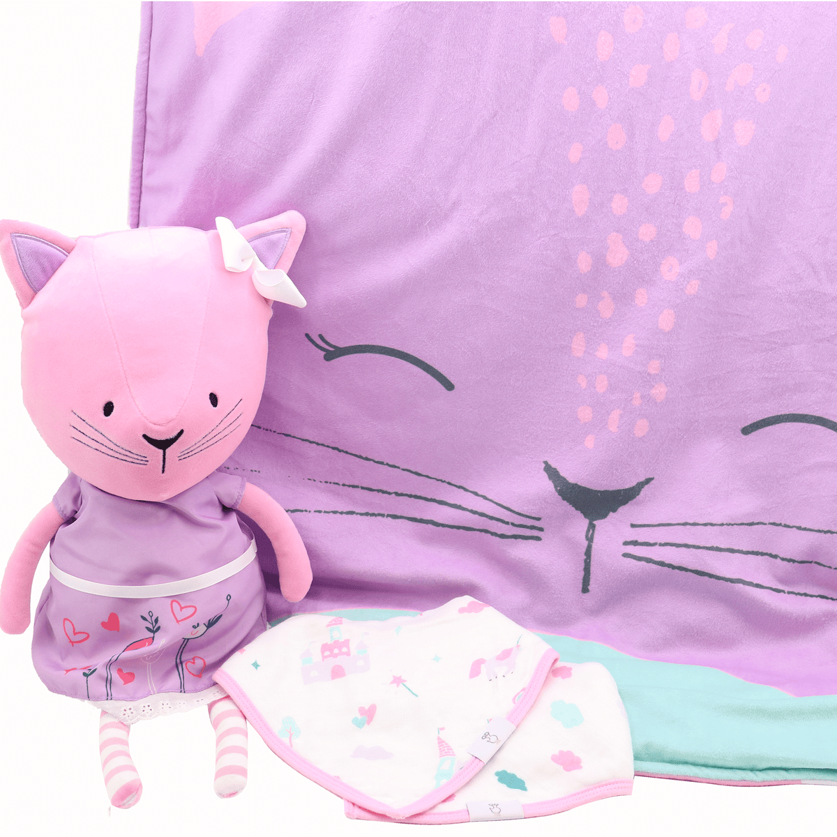 Cover Mees Kitty Stroller Blanket - Goosewaddle