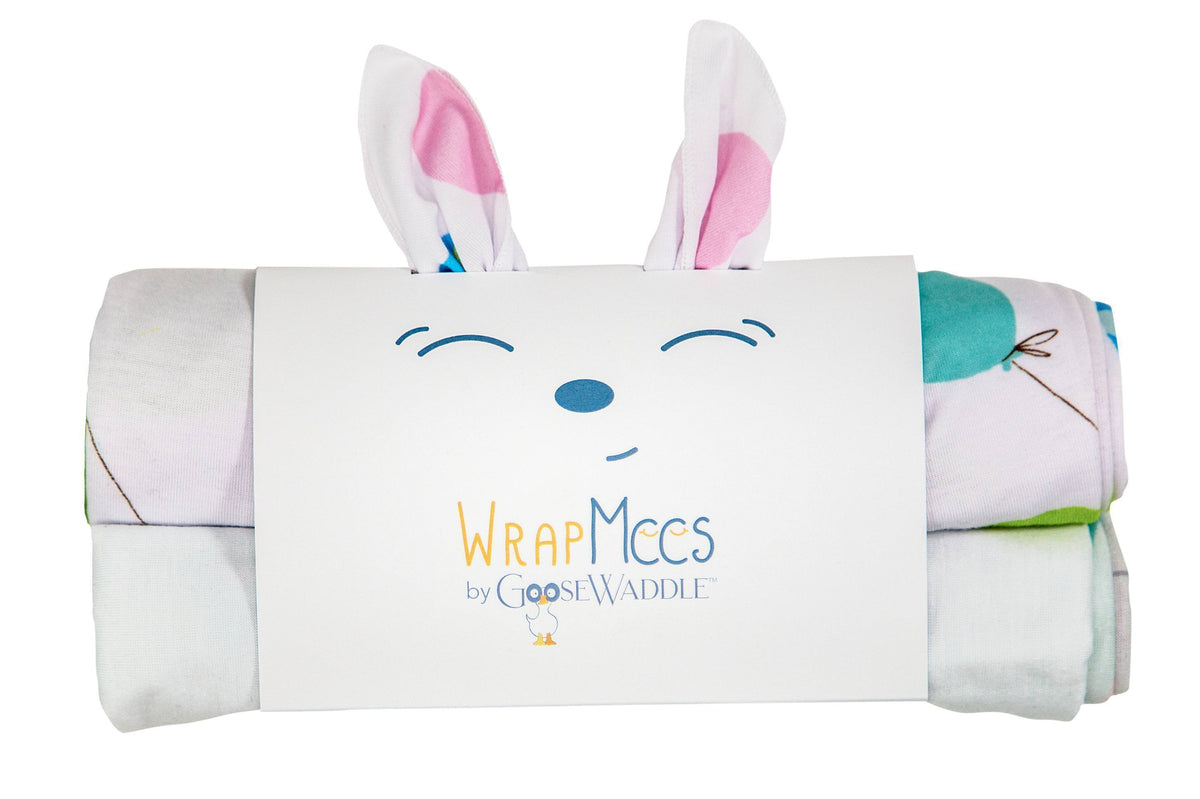 Wrap Mees 2Pk Receiving Blanket Mouse/Balloon - Goosewaddle